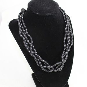Express Black Multi-stand Beaded Necklace